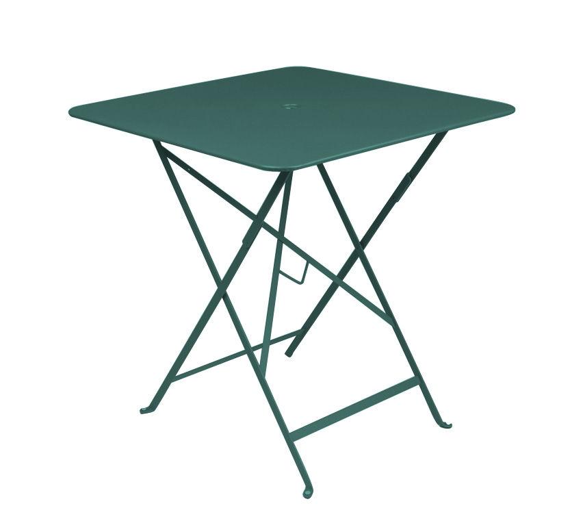 Outdoor - Tavoli  - Tavolo pieghevole Bistro - 71 x 71 cm - Pieghevole - Con foro per parasole di Fermob - Cedro - Acciaio laccato