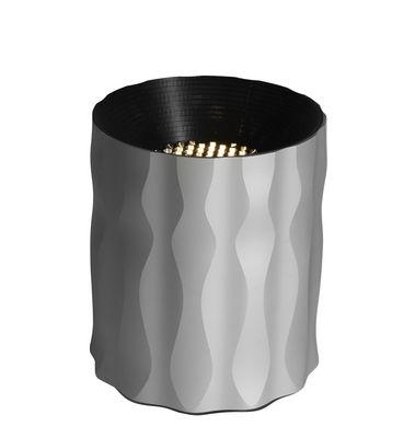 Fiamma Tischleuchte / LED - H 16 cm - Artemide - Grau metallic