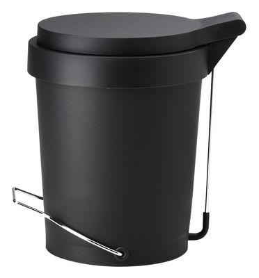 Dekoration - Badezimmer - Tip Treteimer 7 Liter - Authentics - Schwarz - Kautschuk, lackiertes Metall, Polypropylen