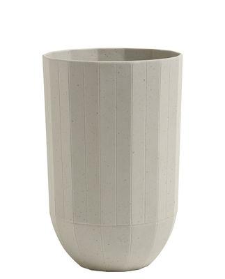 Decoration - Vases - Paper Porcelain Vase - Medium - Ø 9,5 x H 15 cm by Hay - Medium - Grey - China