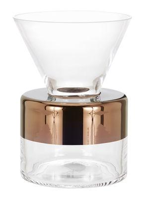 Déco - Vases - Vase Tank Medium / Ø 14 cm x H 19 cm - Tom Dixon - Transparent / Cuivre - Verre soufflé bouche
