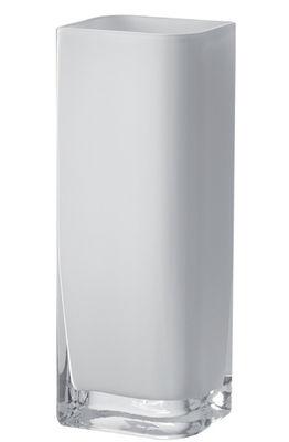 Interni - Vasi - Vaso Lucca - / 11 x 9 x H 30 cm di Leonardo - Bianco / 11x9 x H 30 cm - Vetro