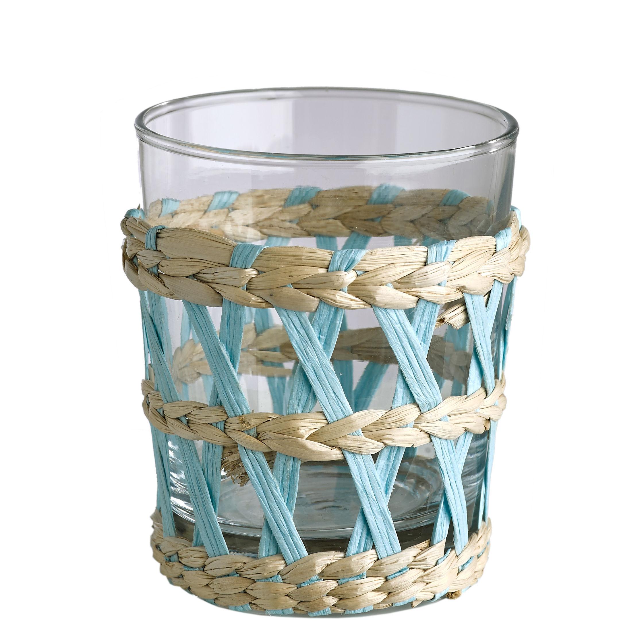 verre eau reed pols potten osier color transparent h 9 5 x 8 made in design. Black Bedroom Furniture Sets. Home Design Ideas