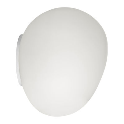Lighting - Wall Lights - Gregg Midi LED Wall light - / Ceiling light by Foscarini - L 21 cm / White - Blown glass, Varnished metal