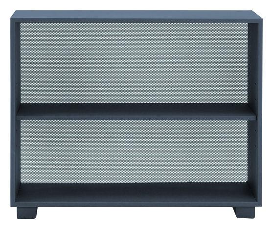 Möbel - Regale und Bücherregale - Diamant Ablage ohne Türen - Tolix - Grau-anthrazit - Lackierter recycelter Stahl
