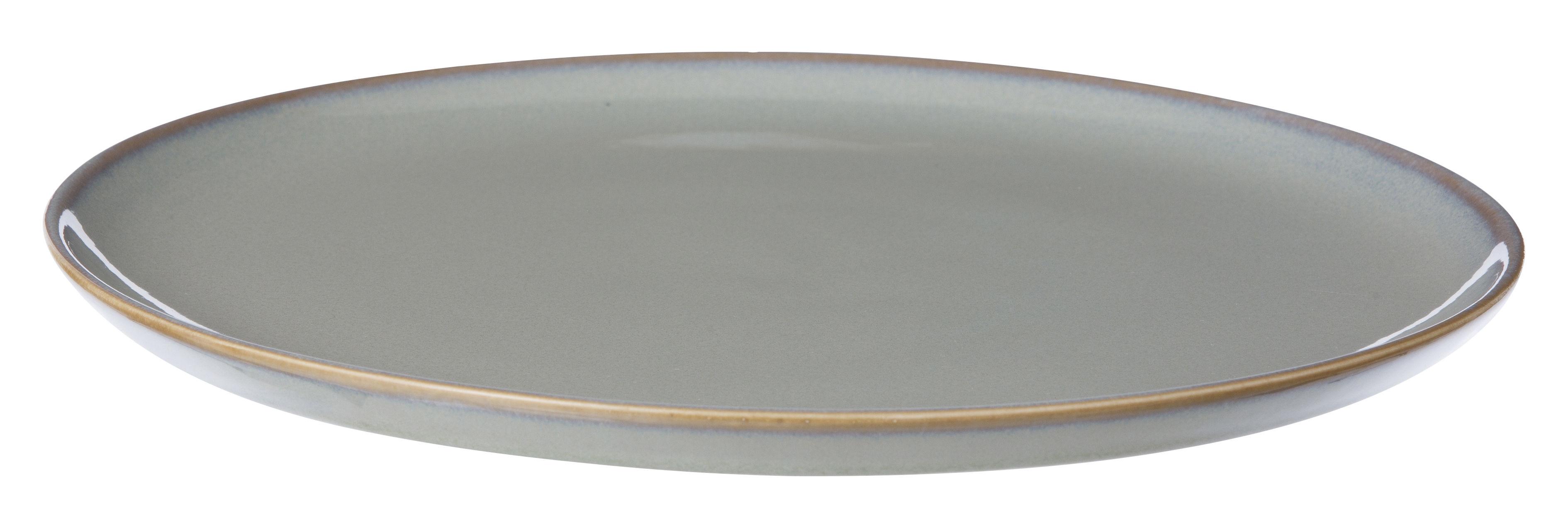 Arts de la table - Assiettes - Assiette Neu / Ø 28 cm - Ferm Living - Gris - Céramique émaillée