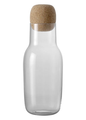 Tableware - Water Carafes & Wine Decanters - Corky Carafe - 1 L by Muuto - Clear - Cork, Glass