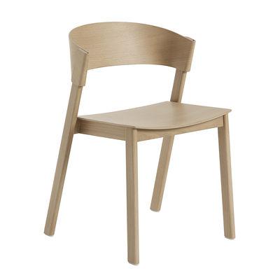 Mobilier - Chaises, fauteuils de salle à manger - Chaise empilable Cover / Bois - Muuto - Chêne - Chêne massif, Contreplaqué cintré