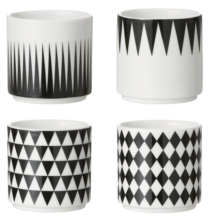 Tableware - Coffee Mugs & Tea Cups - Espresso cup by Ferm Living - Black , White - China