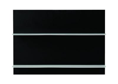 Etagère murale Paper / L 42 x H 29 cm - Design Letters blanc/noir en métal/bois