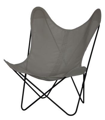 Chaise AA Butterfly OUTDOOR / Batyline - Structure noire - AA-New Design gris en métal/tissu