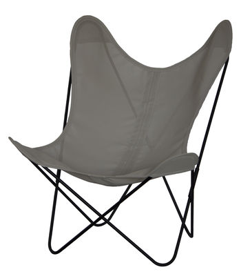 Chaise AA Butterfly / Toile Sunnyline - Structure noire - AA-New Design noir,taupe en métal