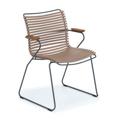 Chaise Click / Plastique & bambou - Houe sable en matière plastique