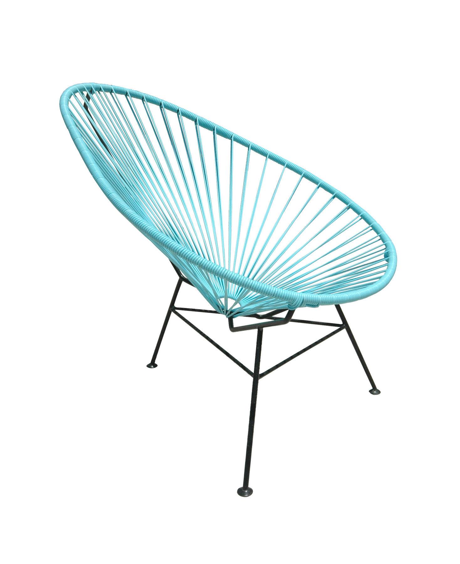 fauteuil enfant mini acapulco turquoise ok design pour sentou edition. Black Bedroom Furniture Sets. Home Design Ideas