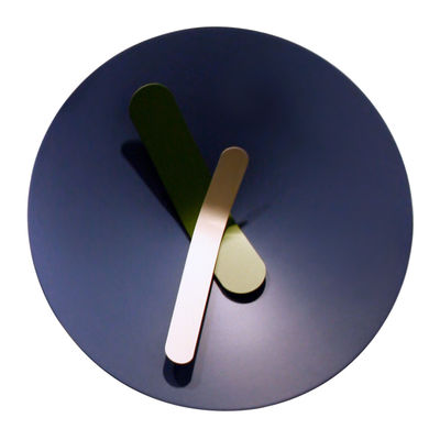 Déco - Horloges  - Horloge murale Mozia Medium / Ø 40 cm - Diamantini & Domeniconi - Bleu gris - Aluminium