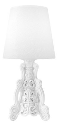 Lighting - Table Lamps - Lady of Love Lamp - Ø 43 x H 88 cm by Design of Love by Slide - Milky white - Polythene