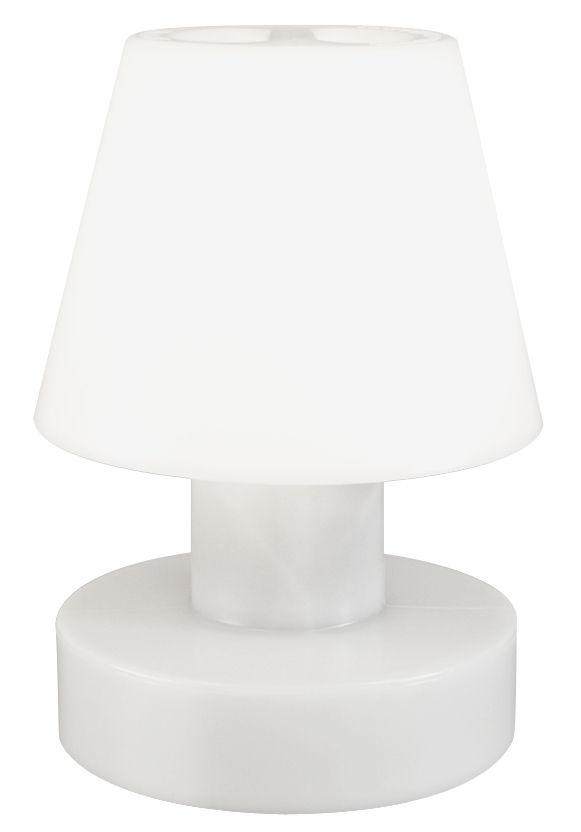 Luminaire - Luminaires d'extérieur - Lampe à poser / Sans fil rechargeable - H 90 cm - Bloom! - Blanc - Polyéthylène
