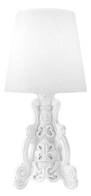 Lampe à poser Lady of Love / Pour l´intérieur - H 88 cm - Design of Love by Slide blanc en matière plastique