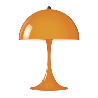Lampe de table Panthella Mini LED / H 33,5 cm - Métal - Louis Poulsen orange en métal