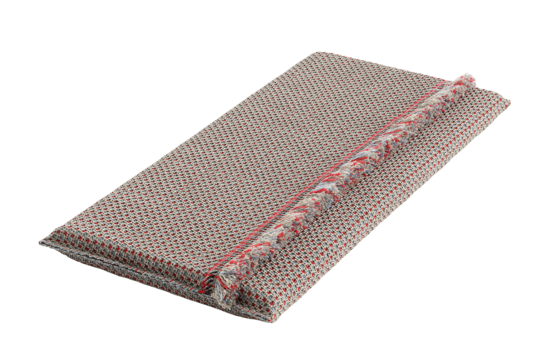 Arredamento - Pouf - Materassi Garden Layers - / Small - Tessuto a mano di Gan - Goffrato / blu & rosso - Caoutchouc mousse, Polipropilene