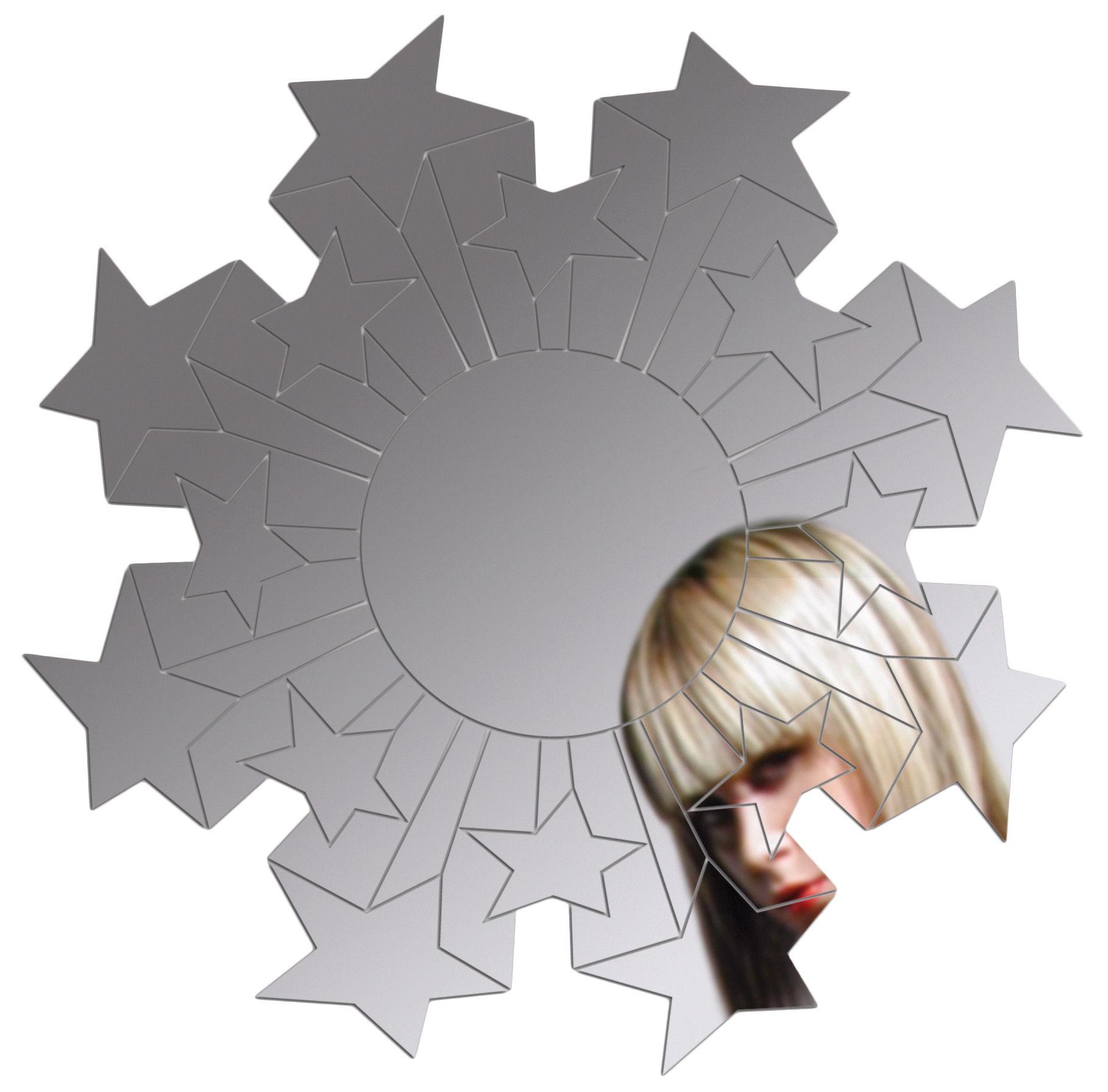 Mobilier - Miroirs - Miroir autocollant Rising Star / Ø 50 cm - Domestic - Rising Star - Matière plastique