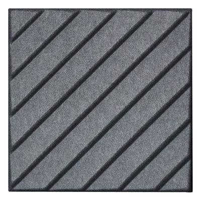 Image of Pannello acustico a muro Soundwave Stripes di Offecct - Grigio - Tessuto