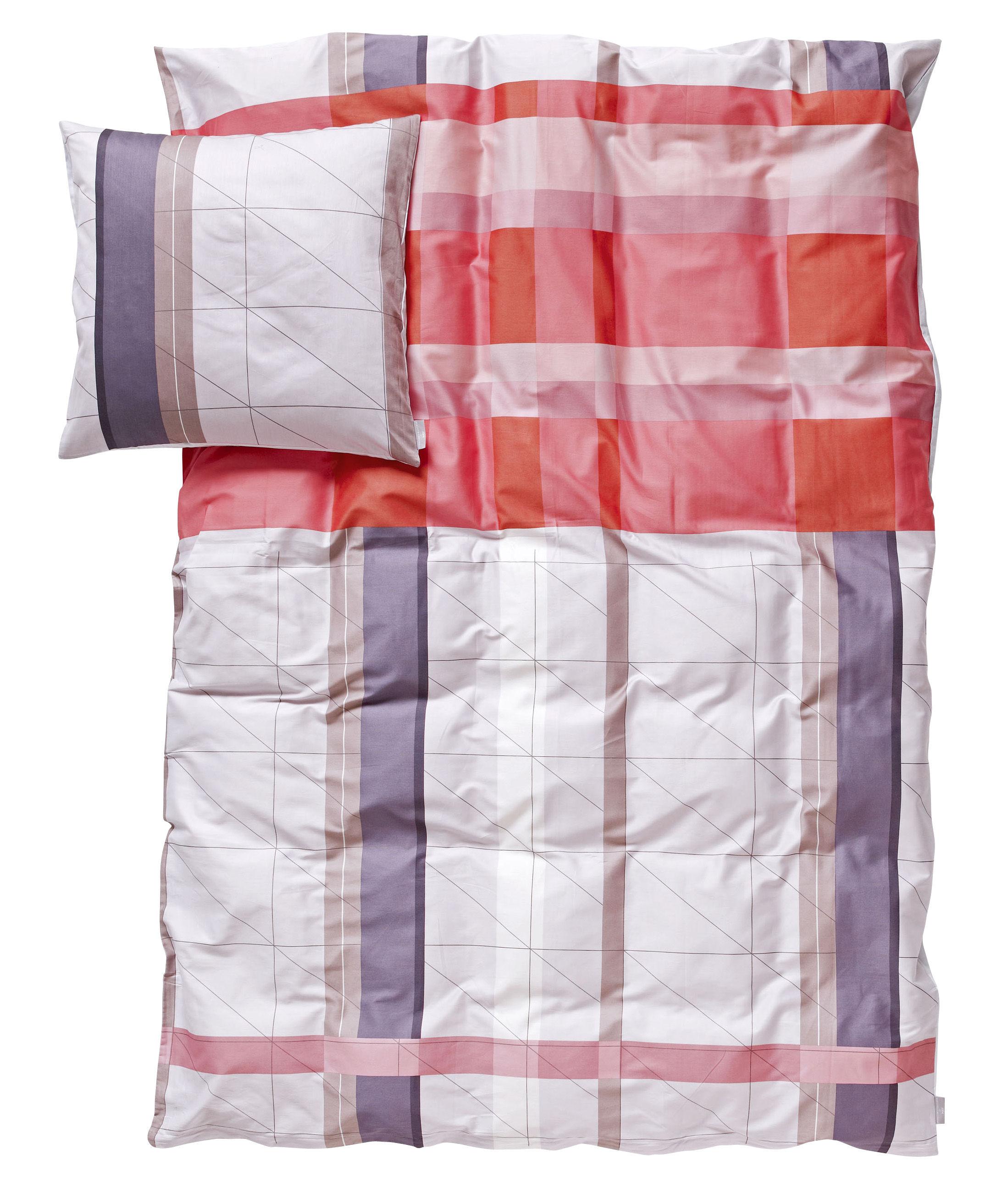 Christmas - Scandinavian - Parure de lit 2 personnes S&B Colour Block / 220 x 240 cm - Hay - Rouge (Tons rouge, parme et taupe) - Coton