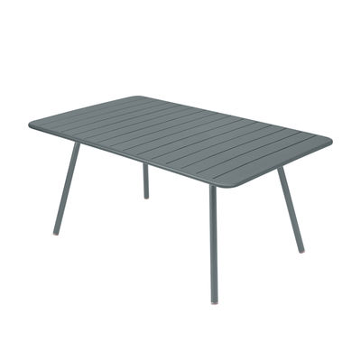 Outdoor - Tische - Luxembourg rechteckiger Tisch / 6 bis 8 Personen - 165 x 100 cm - Fermob - Gewittergrau - lackiertes Aluminium