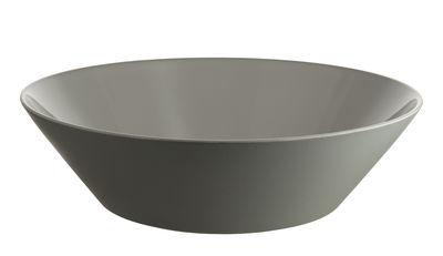 Tischkultur - Salatschüsseln und Schalen - Tonale Salatschüssel / Ø 33 cm - Alessi - Hellgrau - Keramik im Steinzeugton