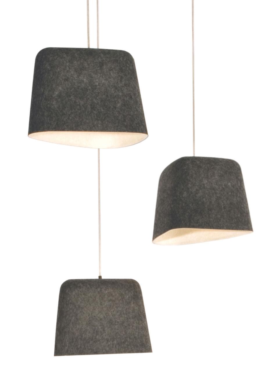 Illuminazione - Lampadari - Sospensione Felt di Tom Dixon - Grigio - Feltro