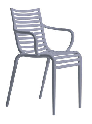 Furniture - Chairs - Pip-e Stackable armchair - Plastic by Driade - Blue lavender - Polypropylene