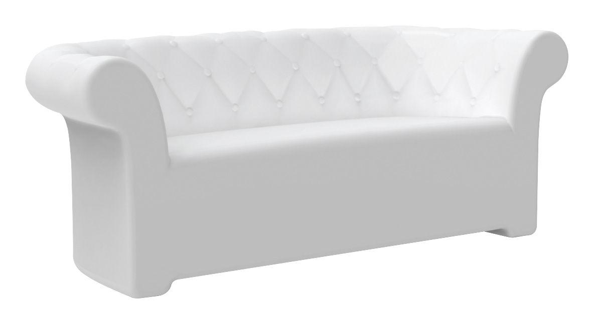 Outdoor - Sofas - Sirchester Straight sofa by Serralunga - White - Polythene