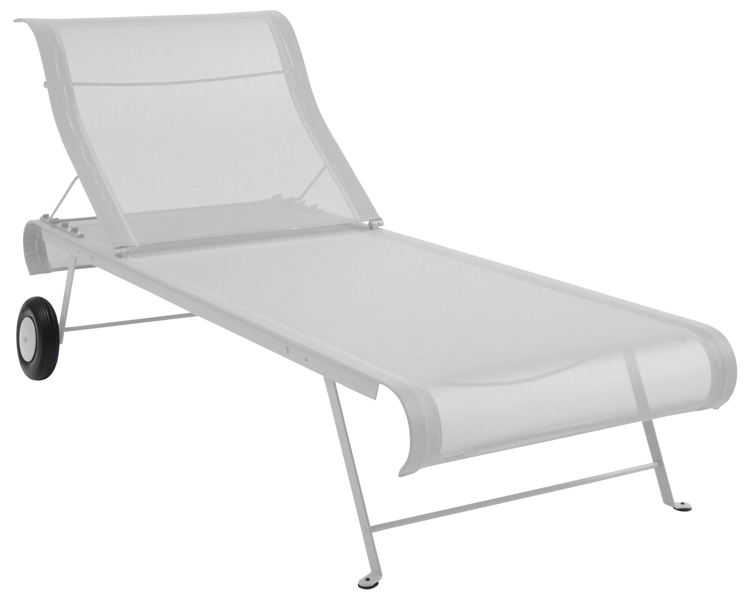 Outdoor - Sun Loungers & Hammocks - Dune Sun lounger by Fermob - White - Lacquered steel, Polyester cloth