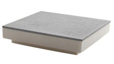 Mobilier - Tables basses - Table basse One - Serralunga - Structure ivoire / Plateau laminé couleur ardoise - Laminé, Polyéthylène