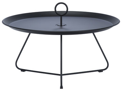 Mobilier - Tables basses - Table basse Eyelet Large / Ø 70 x H 35 cm - Houe - Noir - Métal laqué époxy