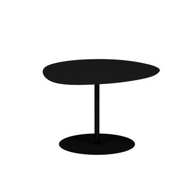 Table basse Galet n°1 OUTDOOR / 59 x 63 x H 40 cm - Matière Grise noir en métal