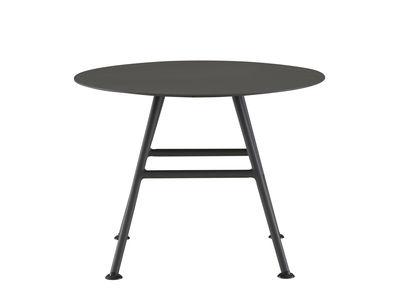 Mobilier - Tables basses - Table basse Garden Pack / Ø 60 x H 45 cm - Cinna - Charbon - Aluminium laqué époxy