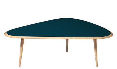 Table basse Large / 130 x 85 cm - Laque - RED Edition chêne naturel,bleu peacock laqué en bois