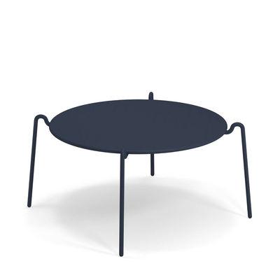 Table basse Rio R50 / Ø 104 cm - Métal - Emu bleu en métal