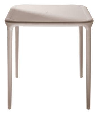 Table carrée Air-Table / 65 x 65 cm - Magis beige en matière plastique