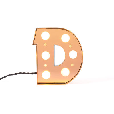 Decoration - Children's Home Accessories - Caractère Table lamp - / Wall light - Letter D - H 20 cm by Seletti - D - Lacquered metal