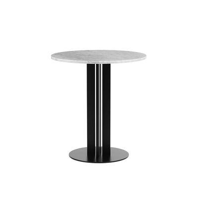 Mobilier - Tables - Table ronde Scala / Ø 70 cm - Marbre blanc - Normann Copenhagen - Marbre blanc - Acier verni, Marbre