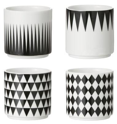 Arts de la table - Tasses et mugs - Tasse à espresso / Set de 4 - Ferm Living - Noir , Blanc - Porcelaine