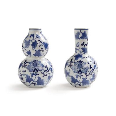 Decoration - Vases - Dutch delight Vase - / Set of 2 by & klevering - Blue & white - China