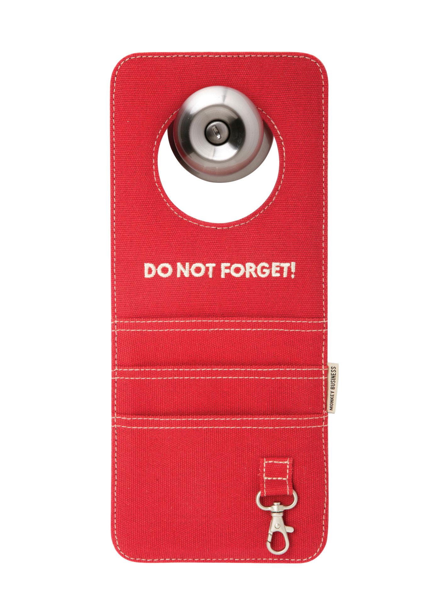 Déco - Corbeilles, centres de table, vide-poches - Vide-poche Doorganizer / Pour poignée de porte - Pa Design - Rouge - Coton