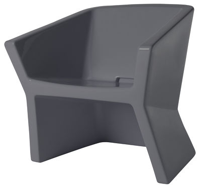 Furniture - Chairs - Exofa Armchair - Plastic by Slide - Dark grey - Polythene