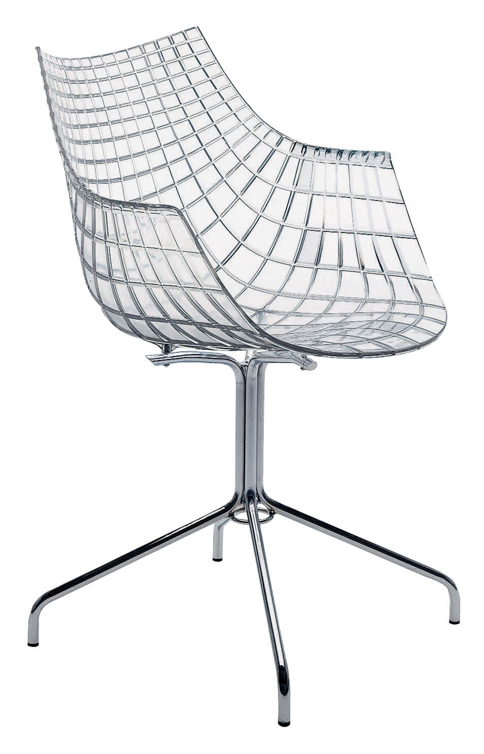 Furniture - Chairs - Meridiana Armchair - Transparent polycarbonate by Driade - Transparent - Chromed steel, Polycarbonate