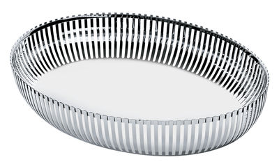 Tableware - Fruit Bowls & Centrepieces - PCH06 par Pierre Charpin Basket - by Pierre Charpin / Ovale 26x20 cm by Alessi - Steel - Stainless steel