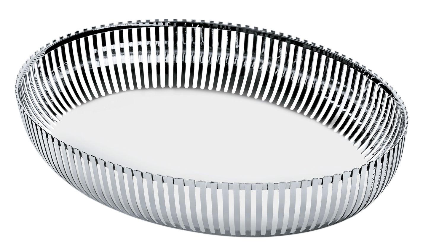 Tavola - Cesti, Fruttiere e Centrotavola - Cesto PCH06 par Pierre Charpin - / Ovale 26x20 cm di Alessi - Acciaio - Acciaio inossidabile