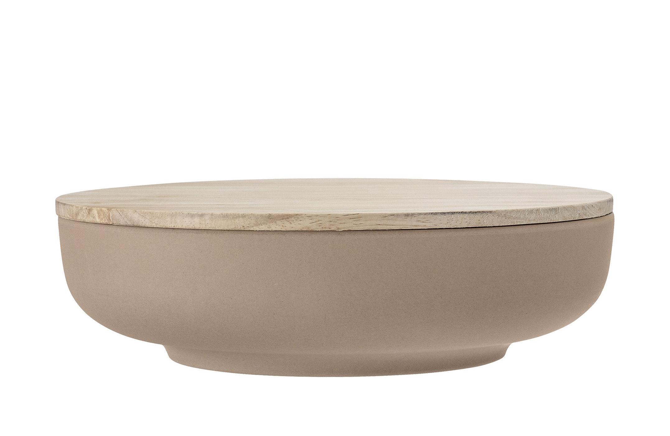 Tavola - Ciotole - Contenant Java - / Con coperchio - Ø 25,5 cm di Bloomingville - Marrone / Legno - Fibra di bambù, Legno